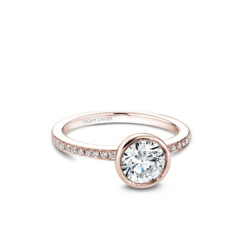 Noam Carver Bezel Set Side-Stone Solitaire Engagement Ring