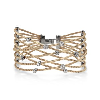 Carnation Cable Constellation Bracelet with 18kt White Gold & Diamonds