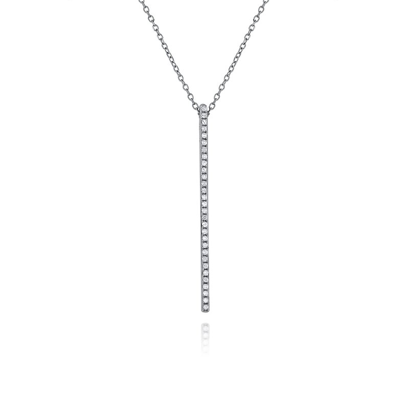 MAZZARESE Fashion 14K Blackened Gold and Diamond Bar Necklace