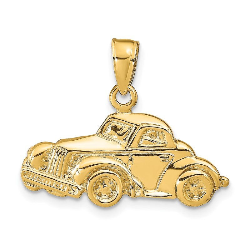 Quality Gold 14k Classic Antique Car Pendant