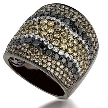 Contemporary Couture by MAZZARESE Mocha Mosaic Fashion Ring