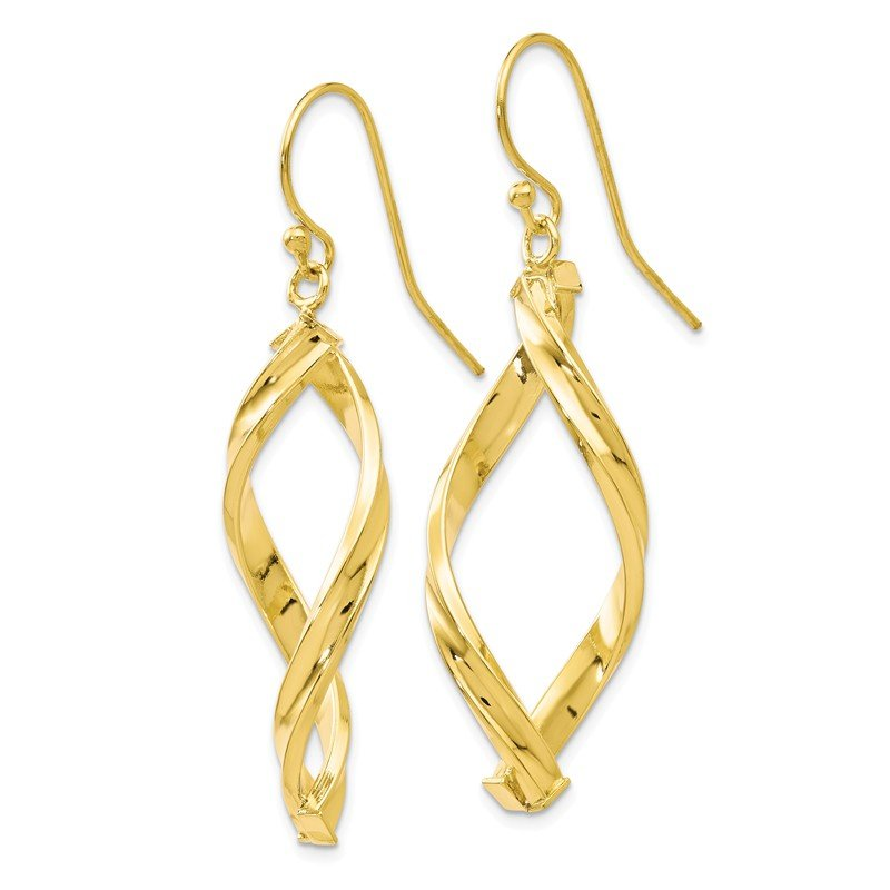 Leslie's Leslie's 10K Polished Shepherd Hook Dangle Earrings