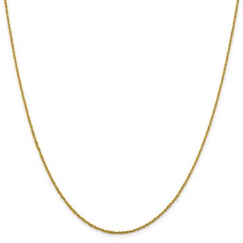 Leslie's 14K 1.3mm Sparkle Singapore Chain