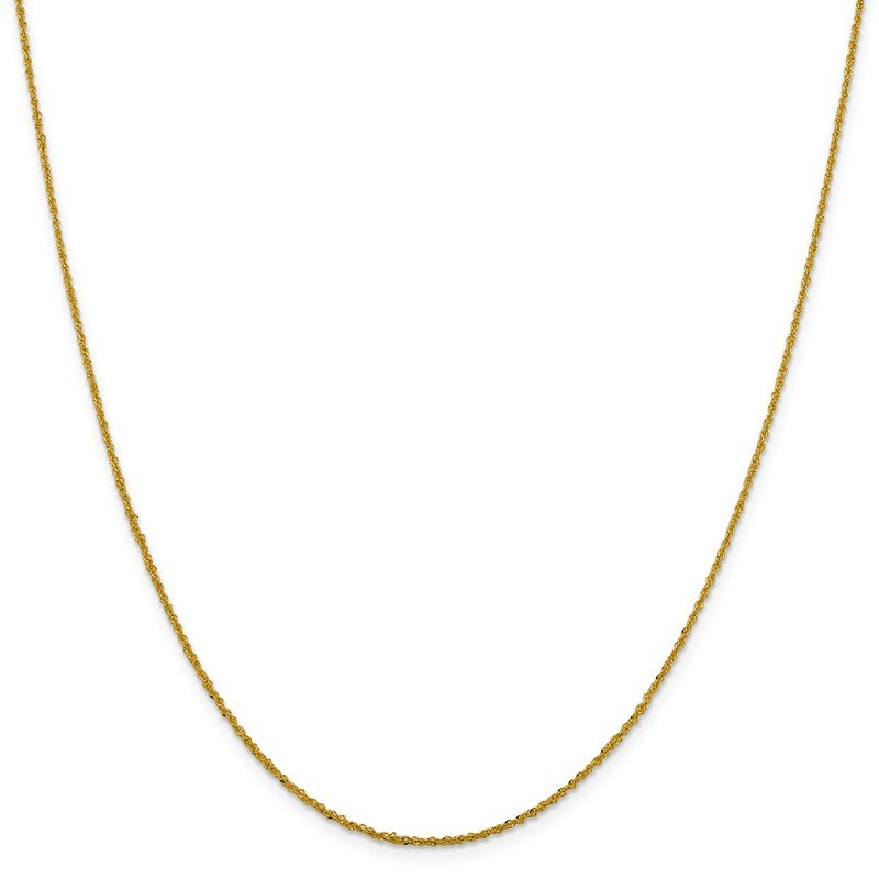 Leslie's Leslie's 14K 1.3 mm Sparkle Singapore Chain