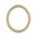 Roberto Coin 18KT GOLD 3 ROW NECKLACE WITH DIAMOND CLASP