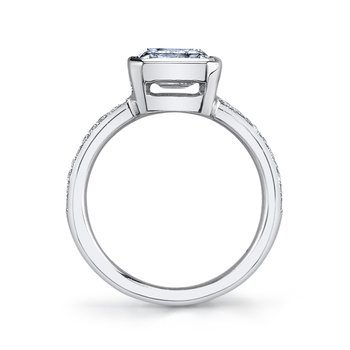 MARS 26705D Diamond Engagement Ring 0.12 Ctw.