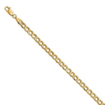 Leslie's 14k 4.3mm Semi-Solid Curb Link Chain