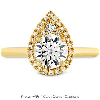 0.28 ctw. Juliette Pear Halo Engagement Ring