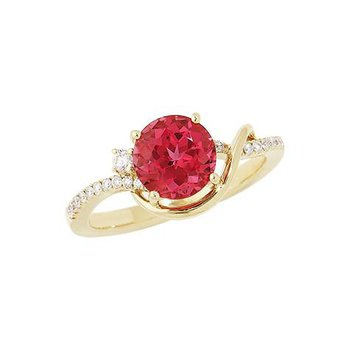 Padparadscha Ring-CR8238YPD