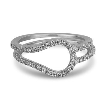 14K WG and diamond Wedding band in pave setting