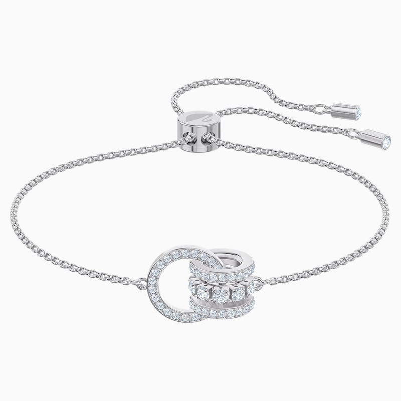 Swarovski Further Bracelet, White, Rhodium plated