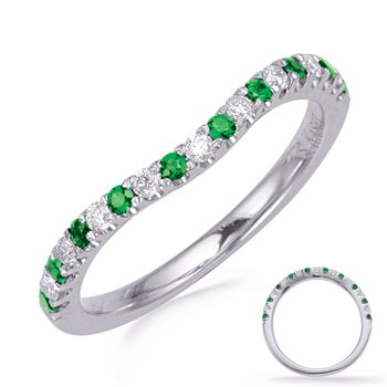 White Gold Tsavorite & Diamond Band