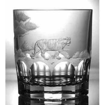 Tiger Double Old Fashioned Glass