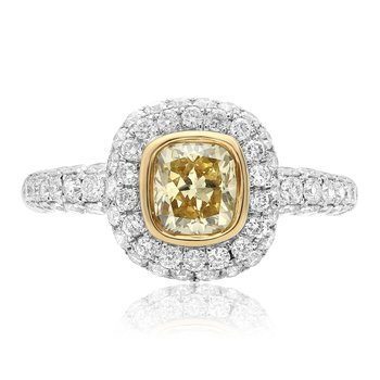 Bezel Set Yellow Diamond Ring