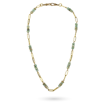 Everything Beaded Necklace - White Aquamarine