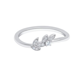 Natural Leaf Diamond Wedding Band