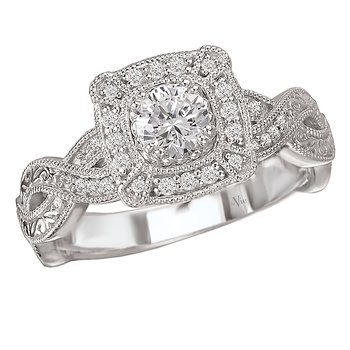 Split Shank Diamond Ring