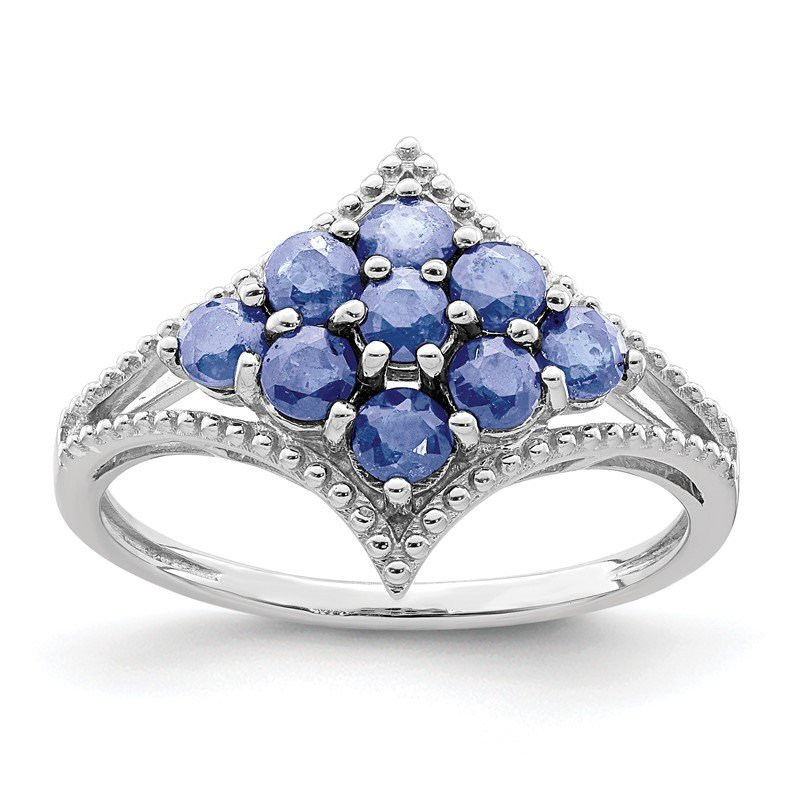 Quality Gold Sterling Silver Rhodium Tanzanite Ring