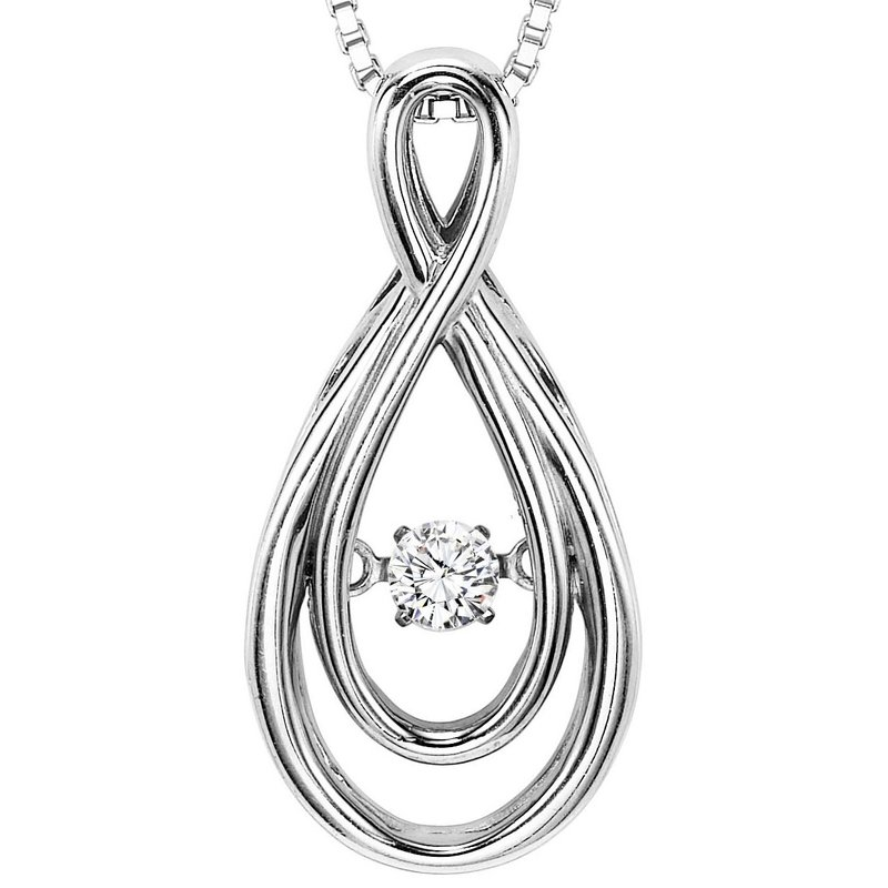 14K Diamond Rhythm Of Love Pendant 1/10 ctw