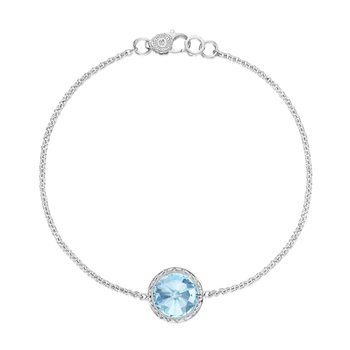 Floating Bezel Bracelet featuring Sky Blue Topaz