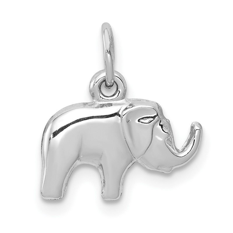 Quality Gold 14k White Gold Elephant Charm