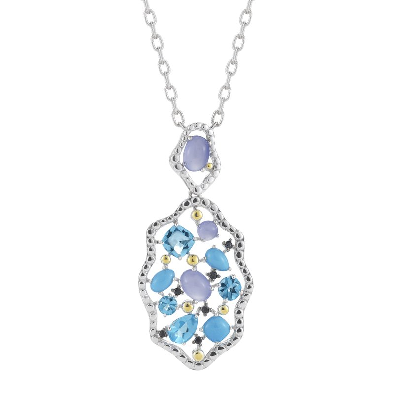 Shula NY Sterling Silver & 14K Yellow Gold with Precious and Semi-Precious Stones Necklace