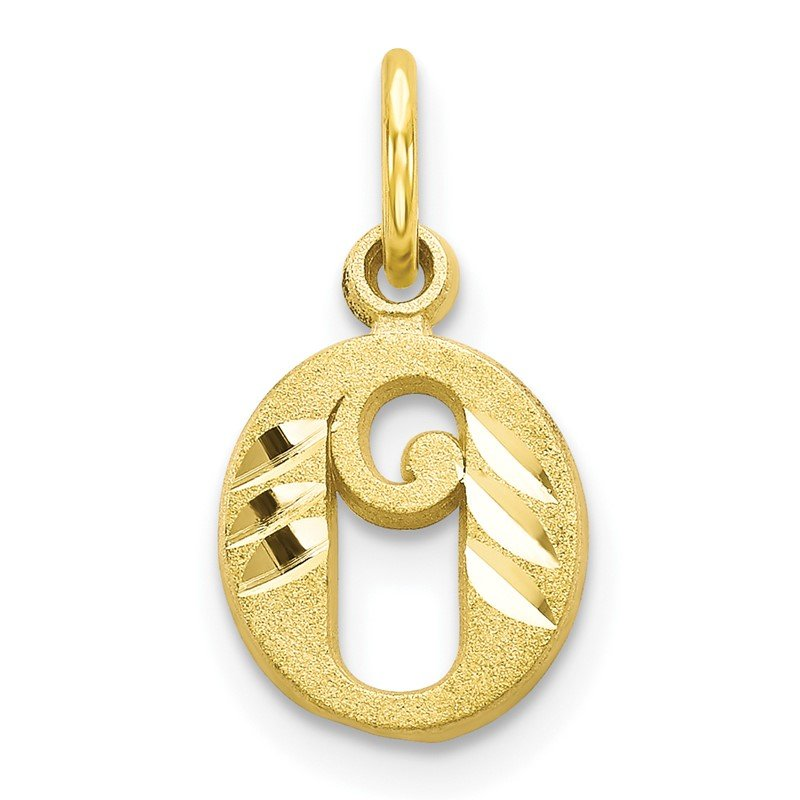 Quality Gold 10k Initial O Charm