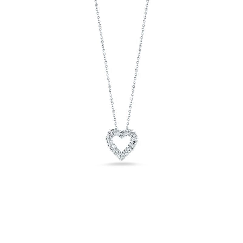 Roberto Coin Heart Pendant With Diamonds