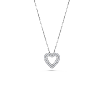 18Kt Gold Heart Pendant With Diamonds