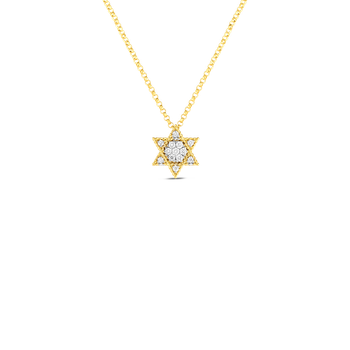 18Kt Gold Princess Star Of David Pendant With Diamonds