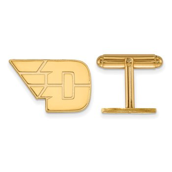 Gold-Plated Sterling Silver University of Dayton NCAA Cuff Links