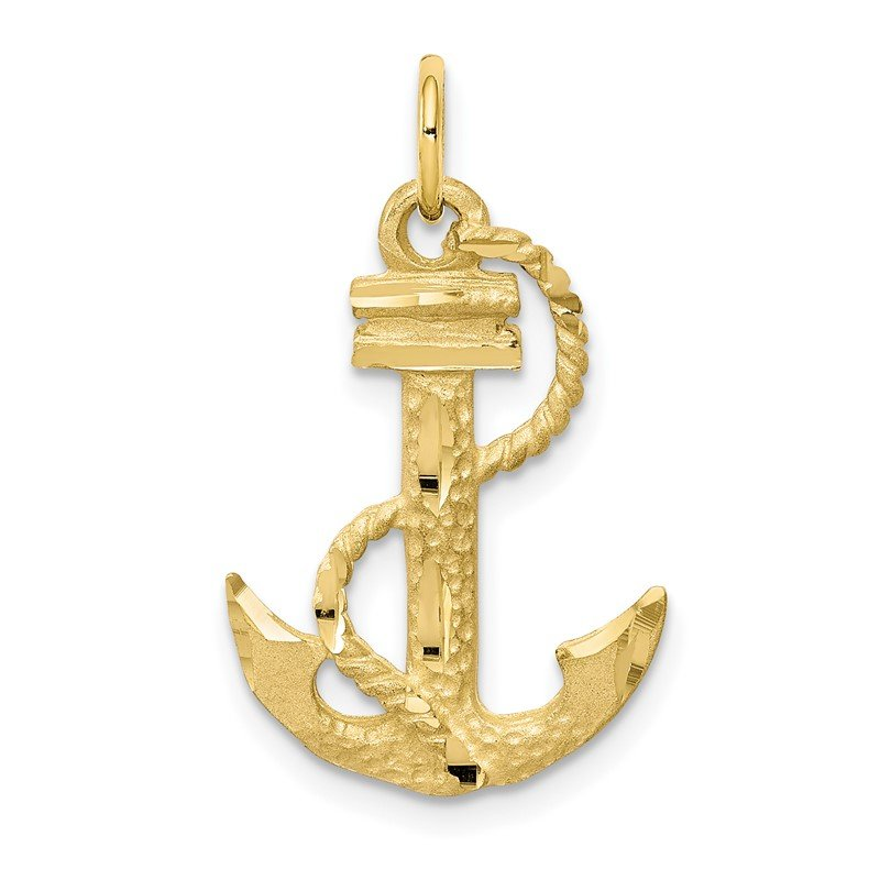 Quality Gold 10k Anchor Charm