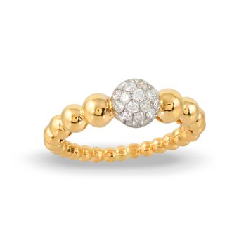 Pave Diamond Ring 18KY