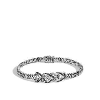 Asli Classic Chain Link 5MM Station Bracelet in Silver, Gem