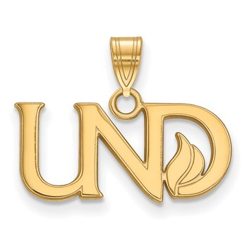 Gold-Plated Sterling Silver University of North Dakota NCAA Pendant