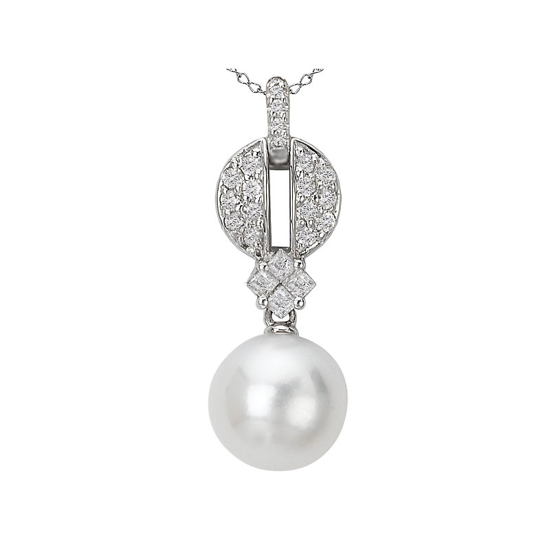 Tesoro Pearl and Diamond Pendant