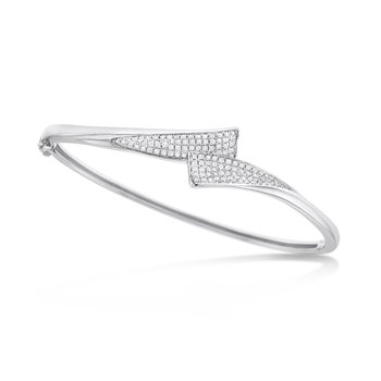 Diamond Twist Bracelet in 14K White Gold with 122 Diamonds Weighing .58 ct tw