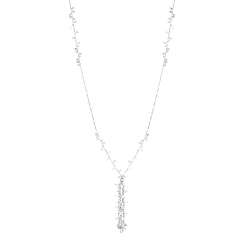Royal Chain Silver Flora Fringe Necklace
