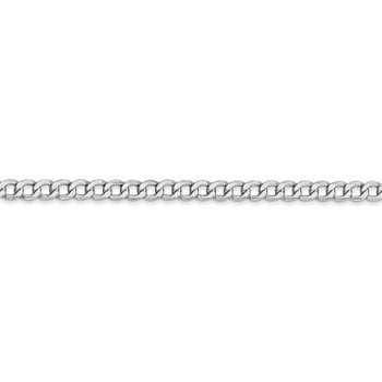 14k WG 3.35mm Semi-Solid Curb Chain Anklet