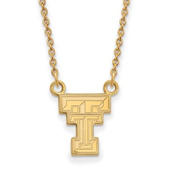 Gold-Plated Sterling Silver Texas Tech University NCAA Necklace