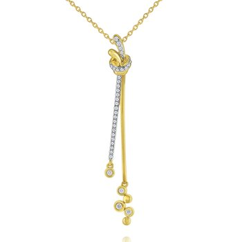14k Gold and Diamond Bubble Necklace