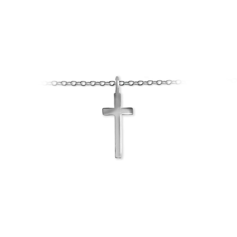 Slate and Tell 20mm Midi Cross Charm