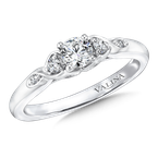 Valina Bridals Mounting with side stones .10 ct. tw., 1/3 ct. round center.