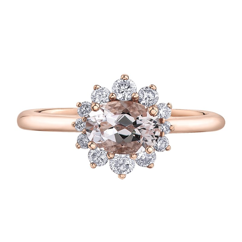 Timeless Beauty Morganite Ladies Ring