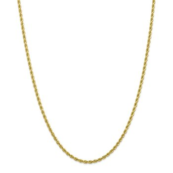 10k 2.75mm Diamond-cut Rope Chain