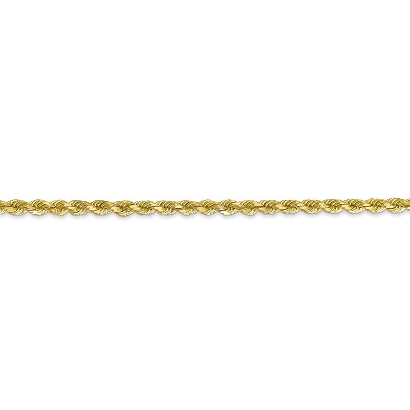 Quality Gold 10k 2.75mm Diamond-cut Rope Chain