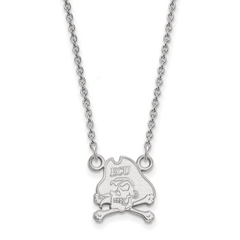 Sterling Silver East Carolina University NCAA Necklace