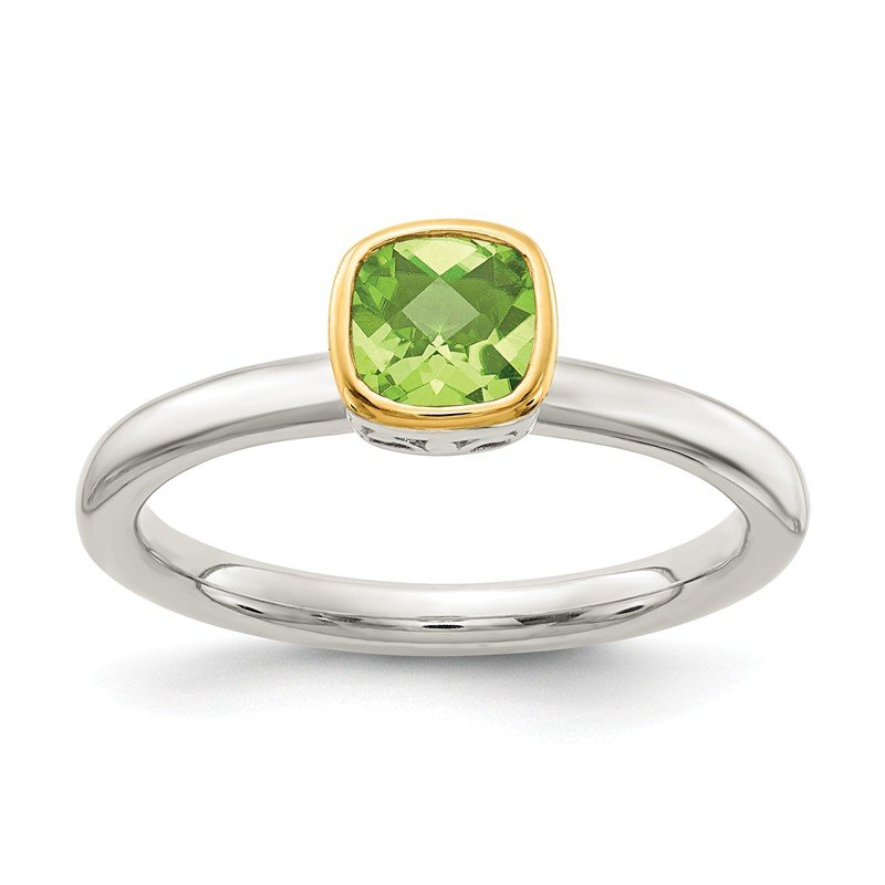 Shey Couture Sterling Silver w/ 14K Accent Peridot Ring