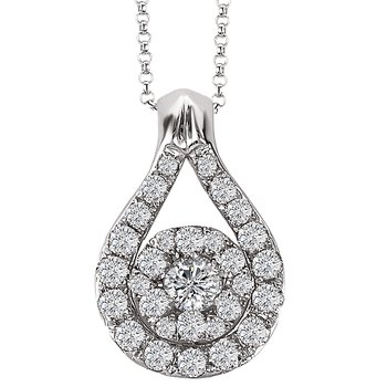 14kt Diamond Teardrop Pendant