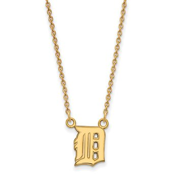 Gold-Plated Sterling Silver Detroit Tigers MLB Necklace